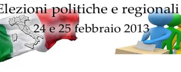 What's new: Elezioni politiche e regionali 2013 – come si vota