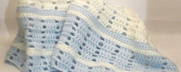 What's new ♥ Copertina all'uncinetto per bimbo (azzurro e bianco)