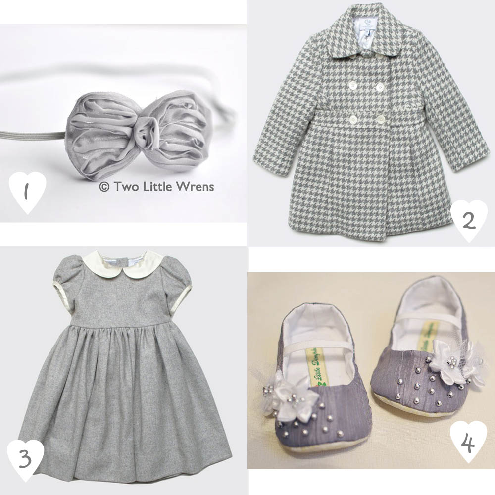 baby outfit silver - argento