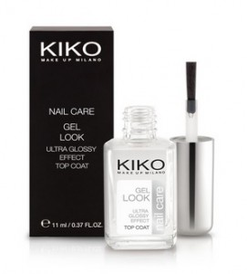 kiko gel look top coat