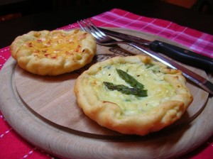 corte mazzoni Tortini agli asparagi e ai peperoni
