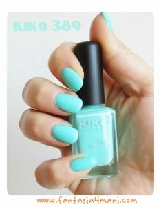 """Smalto della settimana #1 – KIKO 389 """"Tiffany"""""""